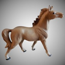 Vintage 1960's Porcelain Chestnut Horse Figurine