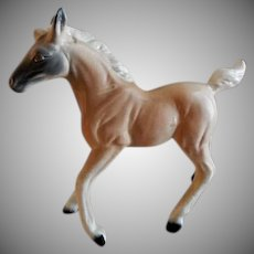 Vintage 1960's Porcelain Kreiss & Co. Blond Palomino Horse Figurine