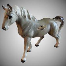 Vintage 1960's Japan Porcelain Percheron Horse Figurine