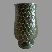 """Red Wing Pottery Mid-Century Embossed """"Artichoke"""" Vase - M 1442"""