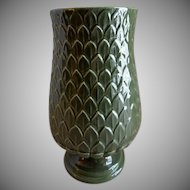 "Red Wing Pottery Mid-Century Embossed ""Artichoke"" Vase - M 1442"