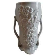 """Red Wing Pottery Mid-Century Embossed """"Floral"""" Vase - 1360"""