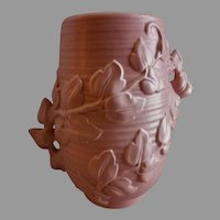 """Red Wing Pottery Mid-Century Embossed """"Trailing Vines"""" Vase - 1162"""