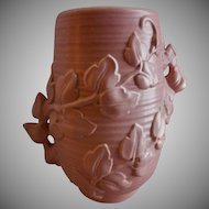 "Red Wing Pottery Mid-Century Embossed ""Trailing Vines"" Vase - 1162"