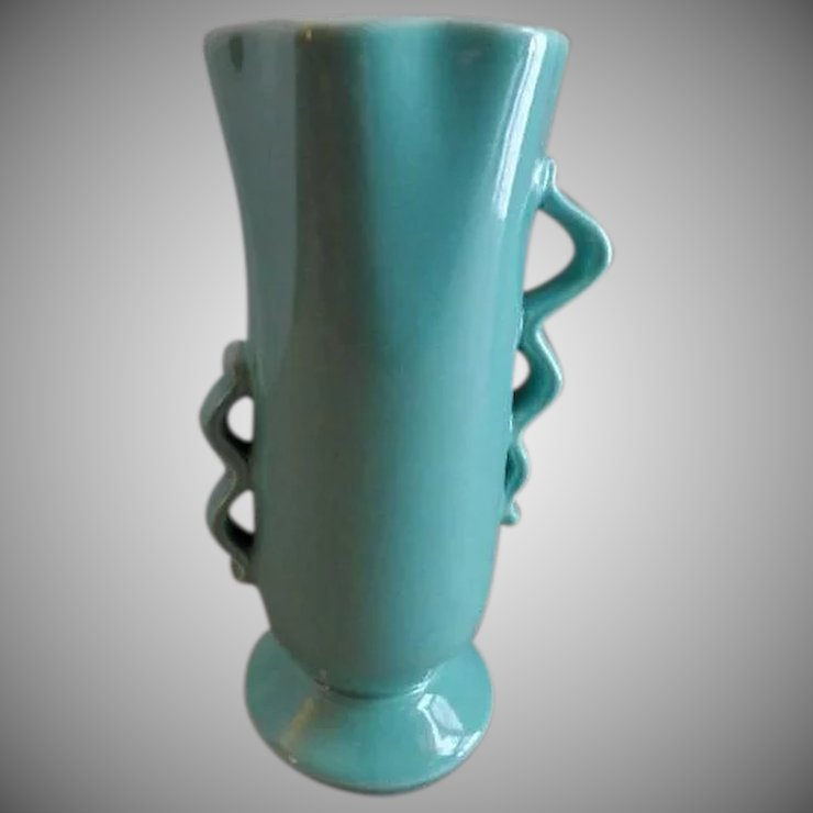 Red Wing Pottery Mid Century Modern Vase 1352 Brys Antiques