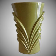 "Red Wing Mid-Century Embossed ""Modern"" Vase - M 1461"