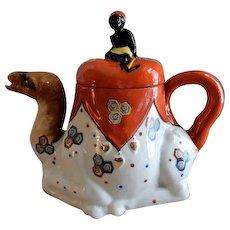 Goldcastle Porcelain Figural Tea Pot - Camel w/Blackamoor Rider