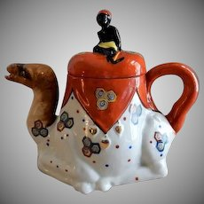Goldcastle Porcelain Figural Tea Pot - Camel w/Blackamoor Rider