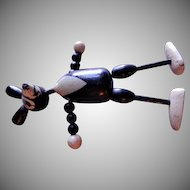 Vintage Krazy Kat Ignatz Mouse Wooden Jointed Figure