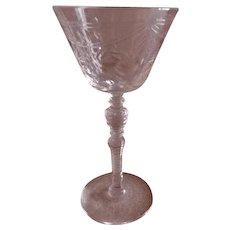 "Libbey/Rock Sharpe ""#2008-4"" Pattern Clear Cut Liquor/Cocktails - Set of 6"