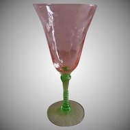 "Tiffin ""Watermelon Glass"" Water Goblets - Set of 2"