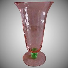 "Tiffin ""Watermelon Glass"" Footed Tumblers - Set of 4"