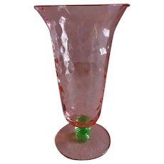 """Tiffin """"Watermelon Glass"""" Footed Tumblers - Set of 4"""