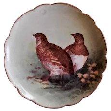 Lazeyras, Rosenfeld & Lehman (L R L) Limoges Bird Game Plate w/Two Birds