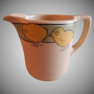 "Roseville Pottery ""Juvenile Line"" Baby Chicks Cream Pitcher"