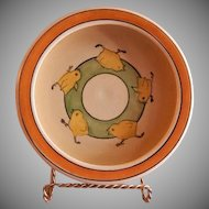 "Roseville Pottery ""Juvenile Line"" Baby Chicks Baby Dish"