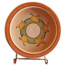 "Roseville Pottery ""Juvenile Line"" Baby Chicks Baby Dish"