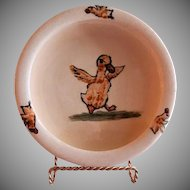 "Weller Pottery ""Zona-Juvenile"" Dancing Duck Baby Dish"