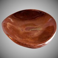"Eugene Deutch MCM Art Pottery ""Heart-Shaped Bowl"" - Dated 1953"
