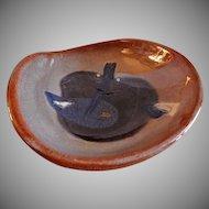 "Eugene Deutch MCM Art Pottery ""Heart-Shaped Bowl"" - Dated 1948"