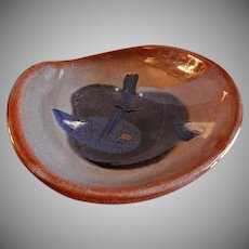 "Eugene Deutch MCM Art Pottery ""Heart-Shaped Bowl"" - Dated 1948"