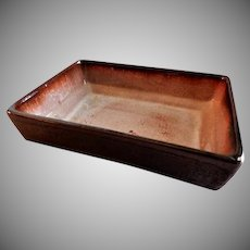 "Eugene Deutch MCM Art Pottery ""Rectangular-Shaped Bowl"" - Dated 1947"