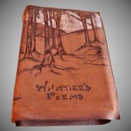 Whittier's Poems - 565 Pages - Leather Bound - Circa 1904