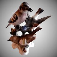 Gerold Porcelain Figurine - Three Birds Sharing a Branch