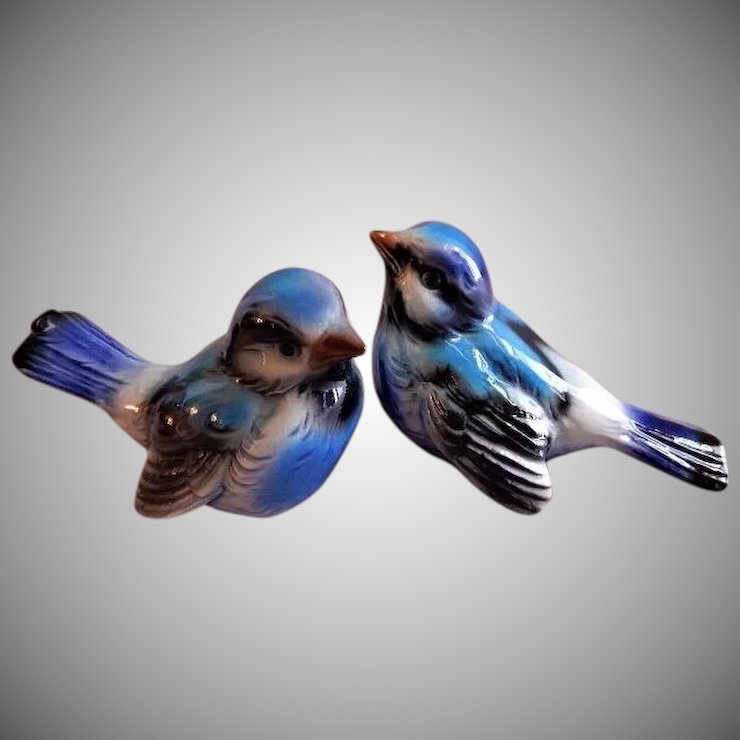 Goebel Blue Bird Figurines Group Of 2 Birds Brys Antiques Ruby Lane