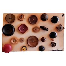 Nineteenth & Early Twentieth Century Wood Buttons for Sewing - Collection of 20