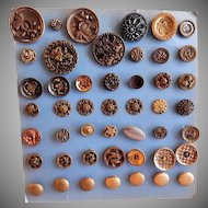Nineteenth & Early Twentieth Century Metal Buttons for Sewing - Collection of 45