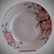 "Noritake ""Azalea"" Pattern Luncheon Plates - Red Backstamp - Set of 6"