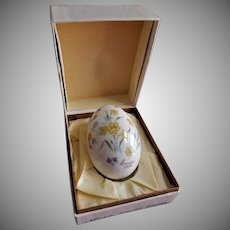 1978 Eighth Edition Noritake Easter Egg w/Colorful Spring Flowers