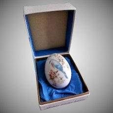 1979 Ninth Edition Noritake Easter Egg w/Robin & Cherry Blossoms