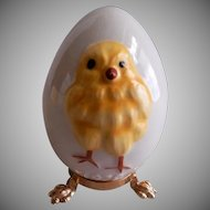 1978 First Edition Goebel Easter Egg w/Yellow Baby Chick