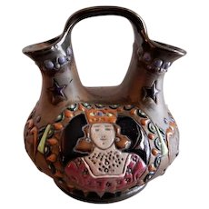 Amphora Werke Reissner Art Deco Wedding Vessel w/Royal Portrait