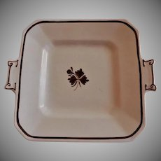 Alfred Meakin Ironstone Tea Leaf Square Handled Tray