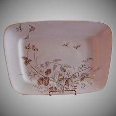 "Alfred Meakin Transferware Ironstone China ""Morning Glory"" Pattern Large Platter"