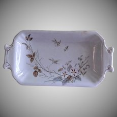 "Alfred Meakin Transferware Ironstone China ""Morning Glory"" Pattern RelishTray"