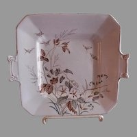 "Alfred Meakin Transferware Ironstone China ""Morning Glory"" Pattern Serving Plate"