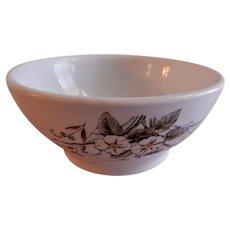"Alfred Meakin Transferware Ironstone China ""Morning Glory"" Pattern Cranberry Bowl"