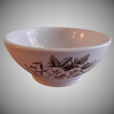 "Alfred Meakin Transferware Ironstone China ""Morning Glory"" Pattern Cranberry Bowl"