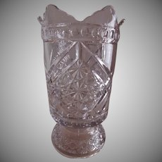 "Richards & Hartley EAPG ""Mikado"" Pattern Celery Vase - aka ""Daisy & Button w/Crossbars"""