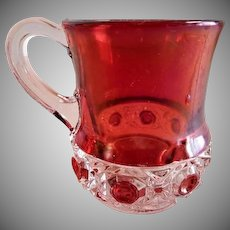 """Box-in-Box"" Pattern Ruby Stained Mug"