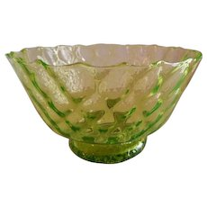 Apple Green Crystal Diamond Quilted Pattern Console Bowl