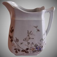 "Alfred Meakin Transferware Ironstone China ""Morning Glory"" Pattern Cream Pitcher"