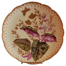 Charles Haviland & Co. Hand Painted Cabinet Plate w/Colorful Coleus Motif