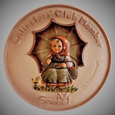 "Hummel Goebel 1978 ""Smiling Through"" Club Members Plaque #690"