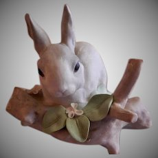 "Lladro ""Rabbit Eating"" Porcelain Sculpture #4773"