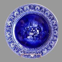 "Royal Doulton Historical Blue Cabinet Plate ""Sketches from Teniers"" Series"